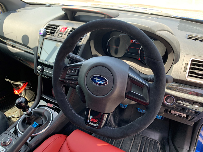 STI STEERING WHEEL [ULTRA SUEDE] FOR VAB